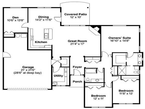 brick home floor plans brick house plans with porches house plan designs blueprints one story lake house plans