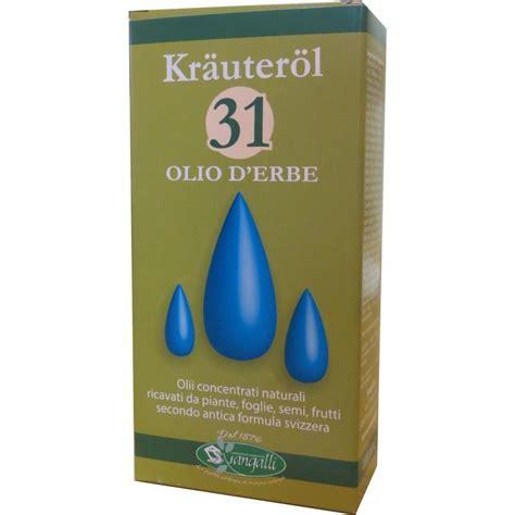 olio 31 mal di testa prodotto naturale su ricetta originale olio 31 e le sue