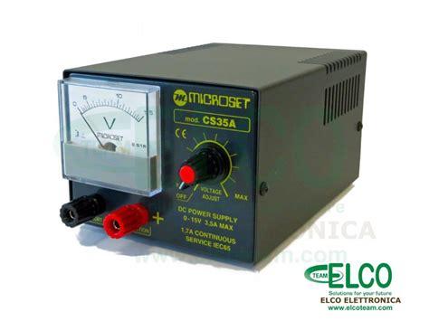 alimentatore regolabile alimentatore regolabile microset cs35a elcoteam