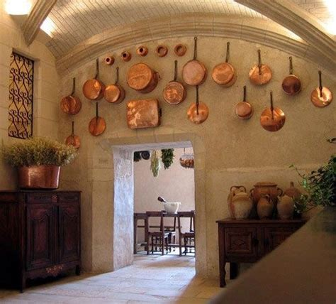 decorating a kitchen with copper love the copper pots for the wall decor kitchen ideas