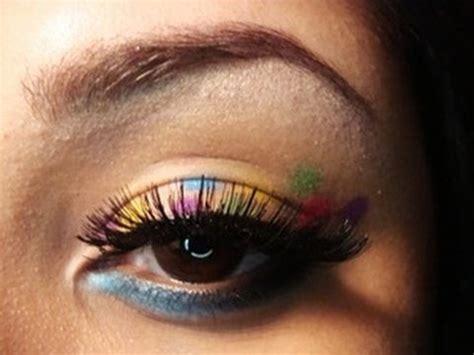eyeliner tutorial dots rainbow polka dot eyes makeup tutorial youtube