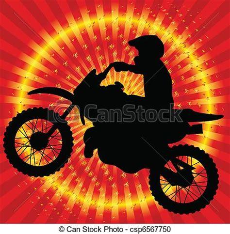 Motorradtouren Zum Runterladen by Vektor Clipart Motorradfahrer Auf Der Abstrakt