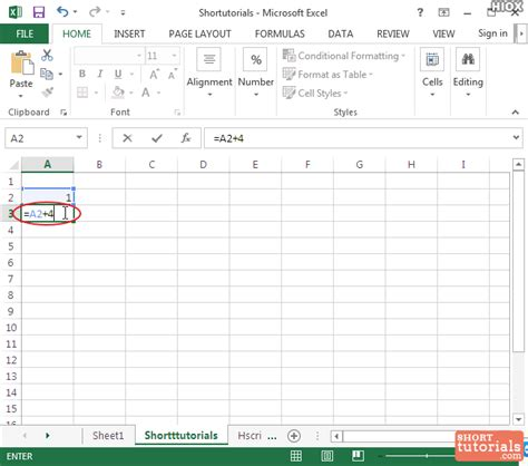 excel tutorial numbering how to increment a number in microsoft excel 2013