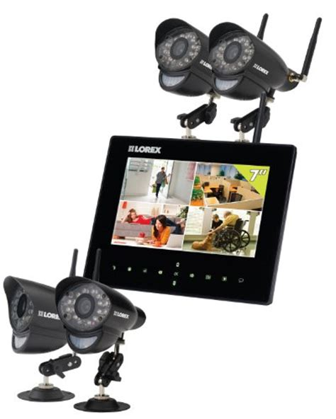 lorex lw2734b live wireless monitoring system black