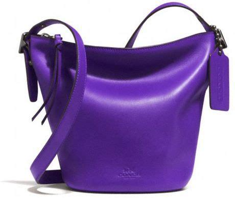 Coach Mini Duffle Purple coach mini duffle bag in glove tanned leather in purple