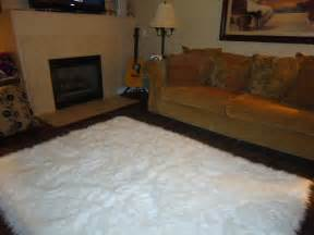 White Fur Area Rug 5 X 7 Shaggy Snow White Faux Fur Sheep Skin By Nottooshaggy