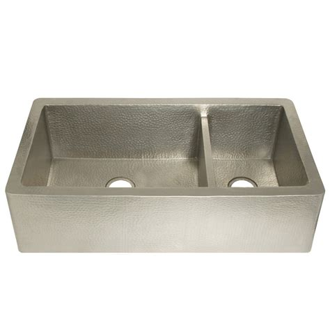 brushed nickel farmhouse sink farmhouse duet pro brushed nickel sink trails