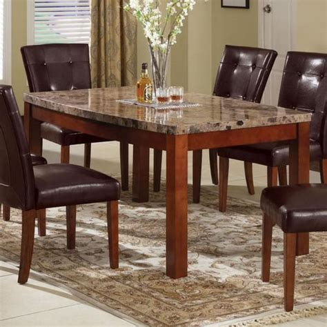Brown Marble Dining Table Acme Furniture Bologna Arc Dining Table With Brown China Marble Top