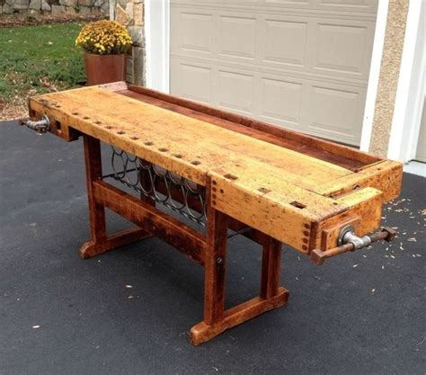carpentry bench custom npcs antique workbench with vice custom restoration w