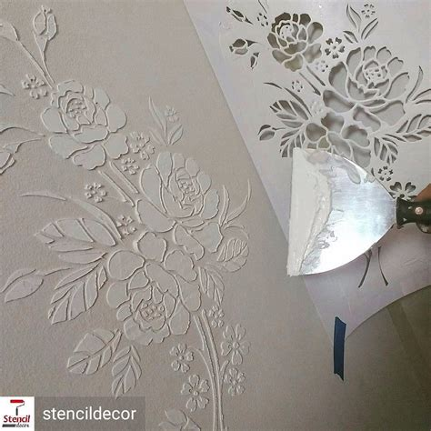 dekor schablone stencil decor de parede est 234 ncil molde pintura 1061 r