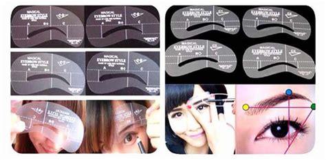 Eye Brow Class 3 Pola Cetak Alis cetak alis 4 pola cetakan alis magical eyebrow mini brow class drawing guide korean style