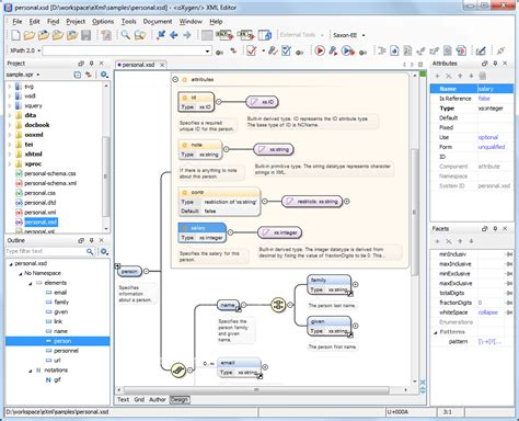 xml editor design view visual xml schema diagram editor design mode