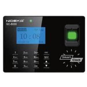 jual mesin absensi nideka sc 8000 baru mesin absensi sidik jari finger print karyawan