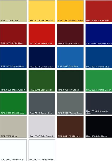 color standards standard colour chart