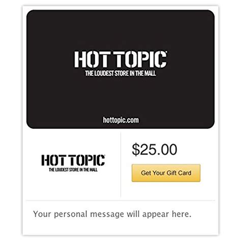 Hot Topic Gift Card - hot topic