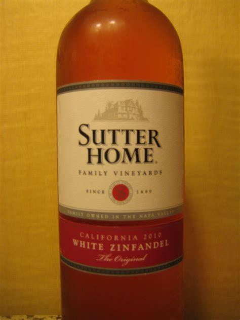 2010 sutter home white zinfandel pour wine