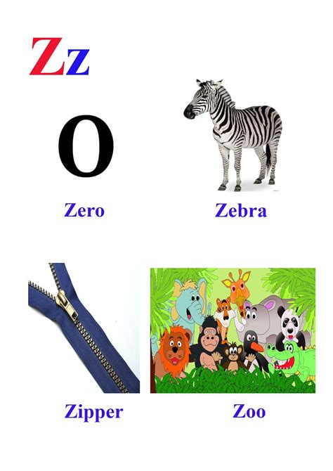 Words Starting Letter Z kidseasylearn