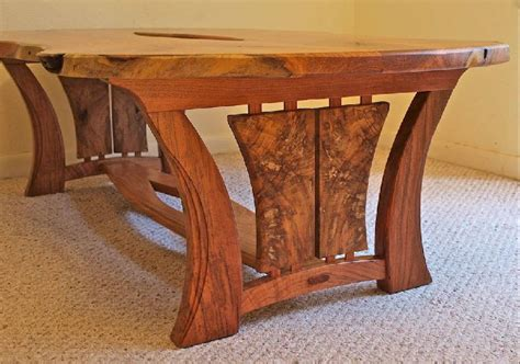 pecan wood coffee table custom handmade live edge mesquite pecan coffee table