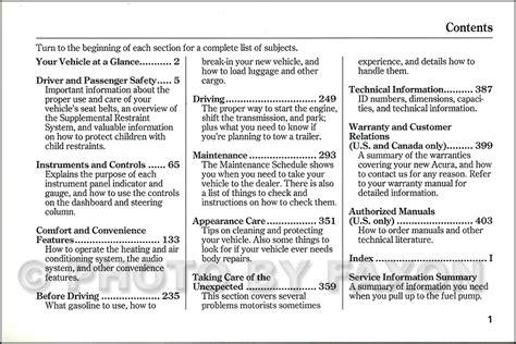 car maintenance manuals 2003 acura nsx user handbook 2003 acura mdx owners manual original