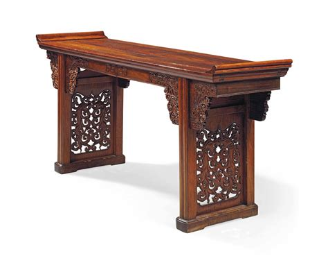Altar Table by A Large Huanghuali And Altar Table