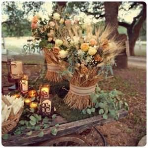 fall country wedding decoration ideas fall wedding decor ideas 1 uniquely yours wedding invitation