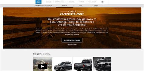 Honda Sweepstakes - honda c ridgeline sweepstakes