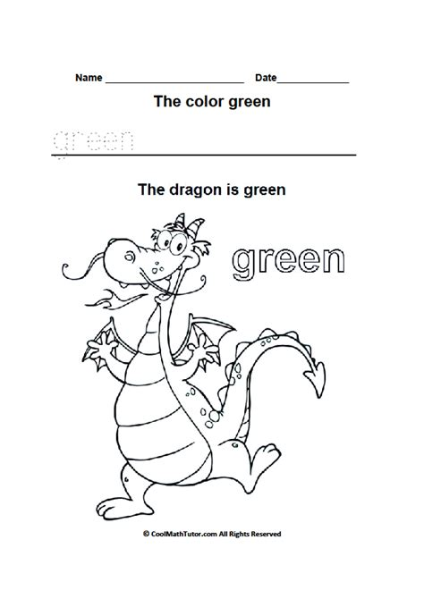 preschool coloring pages color green preschool colors kindergarten coloring worksheets