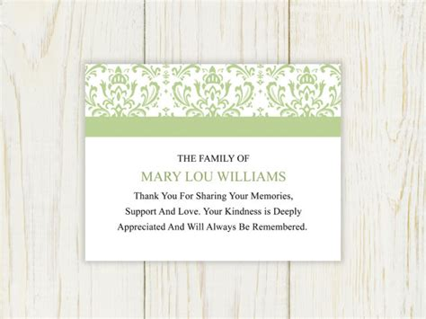 printable thank you cards after funeral sympathy thank you card printable after funeral by