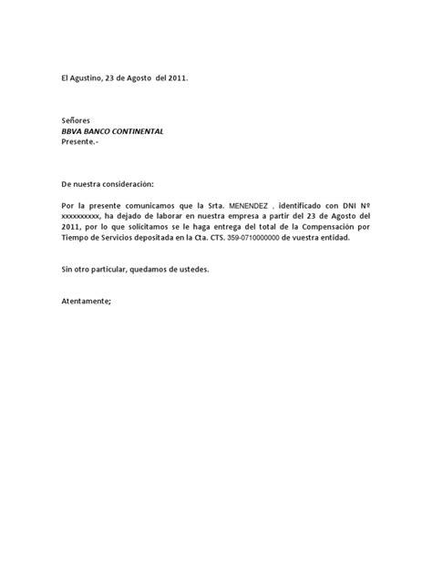 formato modelo ejemplo solicitud de adelanto de scribd carta retiro de cts modelo