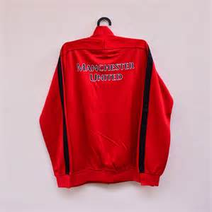 Jaket Arsenal Retro Jaket Bola Grade Ori Manchester United 13 14 Merah