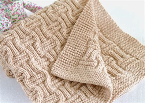 free beginner double basket weave face cloth knitting pattern knitting pattern beginner knit baby blanket in double