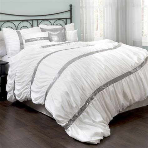 white and silver bedding silver and white bedding sets diamante pintuck detail white black silver duvet