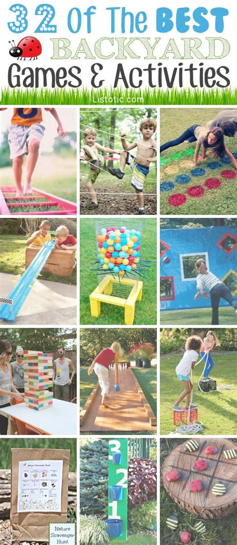 Backyard Activities by 32 Of The Best Diy Backyard Activities