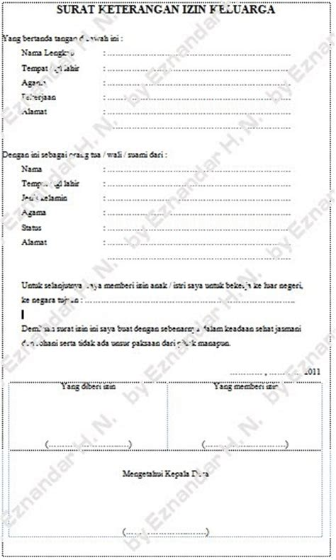 contoh surat izin orang tua untuk kerja ke luar negeri copy mild