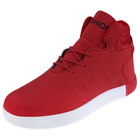 top running sneakers new fashion mens casual high top sport sneakers athletic