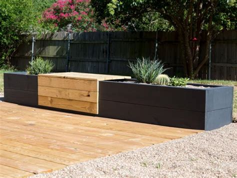 Diy Modern Planter by Make A Modern Planter And Bench Combo Hgtv