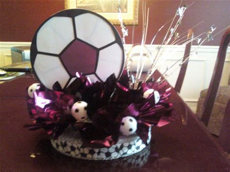 Soccer Banquet Centerpiece My Creations Pinterest Soccer Banquet Centerpiece Ideas