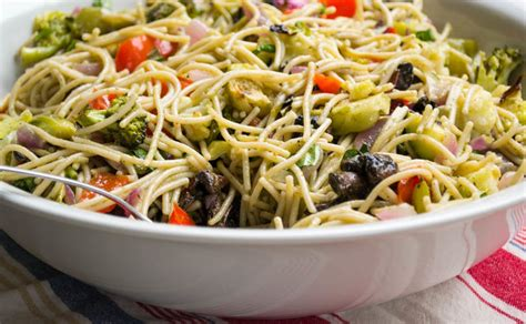 pasta salad with spaghetti noodles california dreaming spaghetti salad fiercefork
