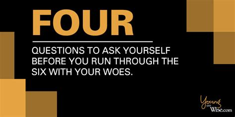 4 questions to ask yourself before running through the 6