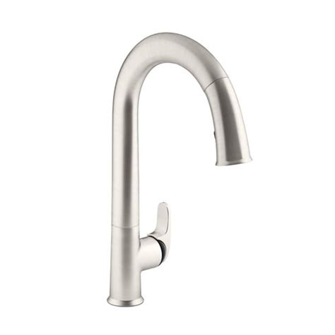 kohler black kitchen faucets kohler k 72218 b7 vs sensate touchless pull down kitchen