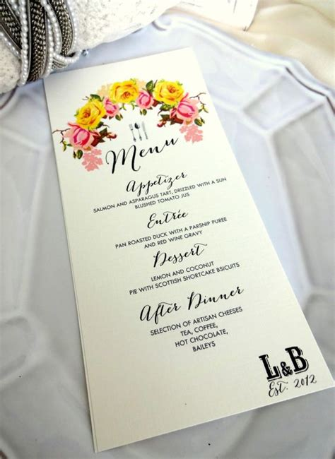 menu cards vintage shabby chic and cards on pinterest