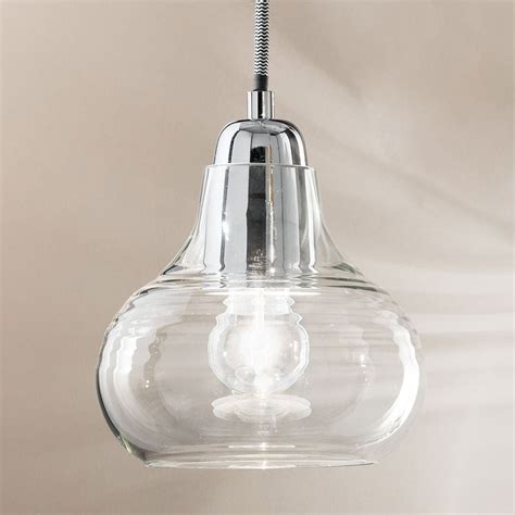 liri chrome and glass pendant light fitting type from