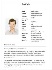 Basic Resume Exles For by Basic Resume Template Free Health Symptoms And Cure