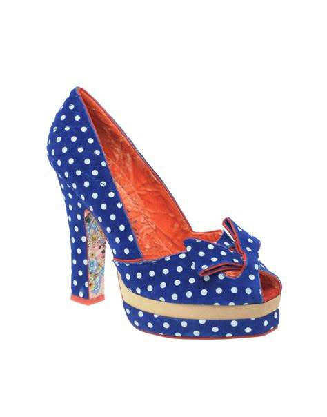 Irregular Choice Rosette Wedges At Asos by Fashion Nette Work Don T Step On My Blue Suede Shoes