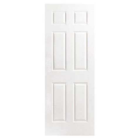 home depot white bedroom doors masonite 30 in x 80 in textured 6 panel hollow core