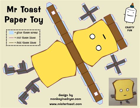 How To Make Toys Out Of Paper - a sler of things mr toast paper
