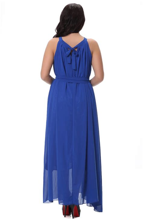 Sleeveless A Line Chiffon Dress kettymore sleeveless a line chiffon plus size dress