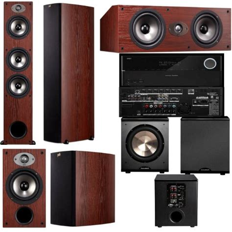 polk audio tsx440t 5 1 home theater system cherry harman