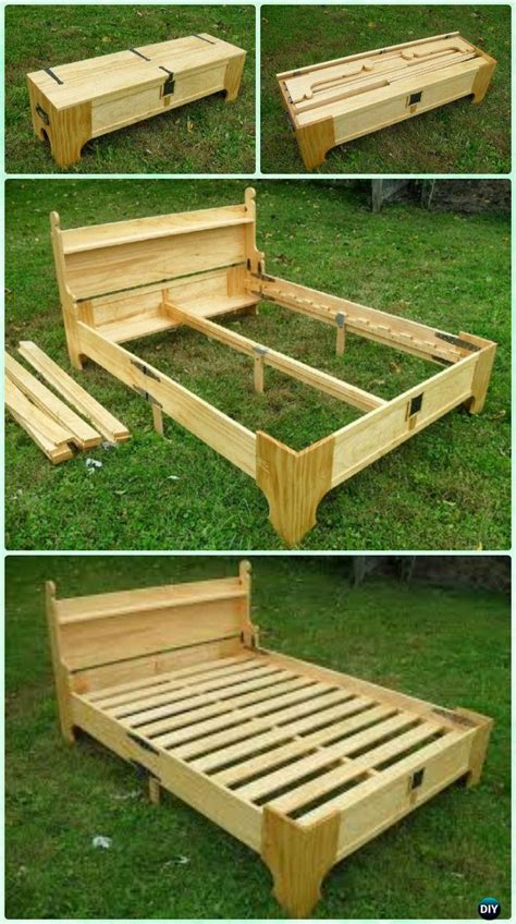 diy bed frame plans free diy space saving bed frame design free plans