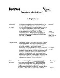 Exle Of Simple Essay by How Write An Essay In